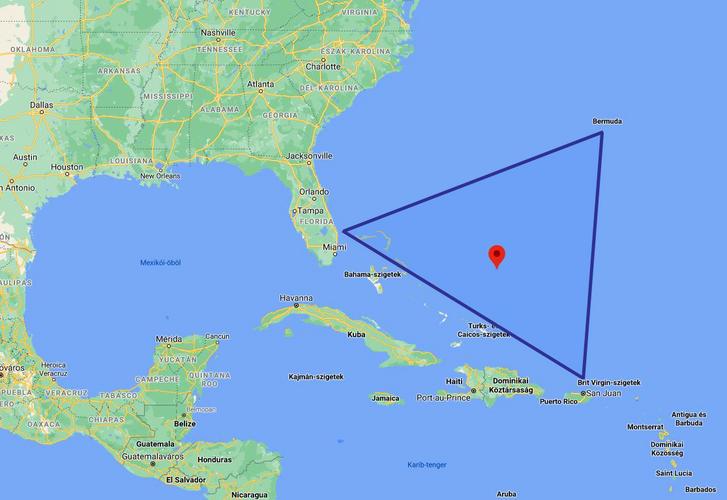 A Bermuda-háromszög elhelyezkedése