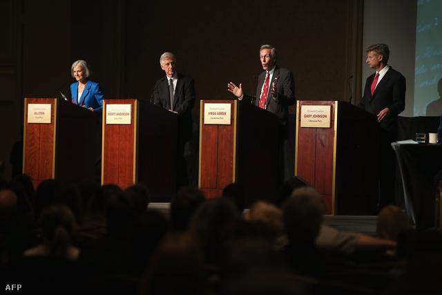 Jill Stein, Rocky Anderson,  Virgil Goode és Gary Johnson