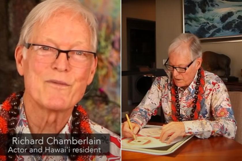 Richard Chamberlain Hawaiin él.