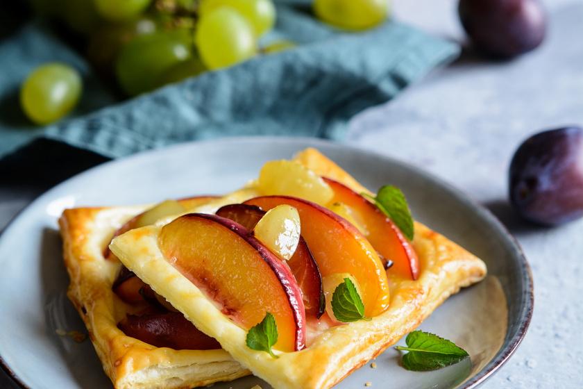 Gyümölcsös, vaníliás pite: leveles tésztából a legfinomabb