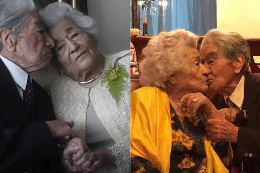Ők a világ legidősebb házaspárja: a 104 éves asszony és a 110 éves férfi 79 éve boldogok együtt