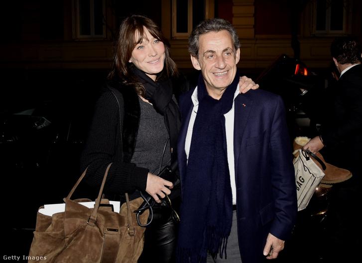 Carla Bruni és Nicolas Sarkozy Mardidban 2017-ben