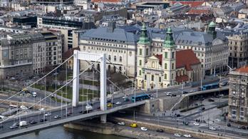 Hétvégén lezárják az Erzsébet híd egy részét