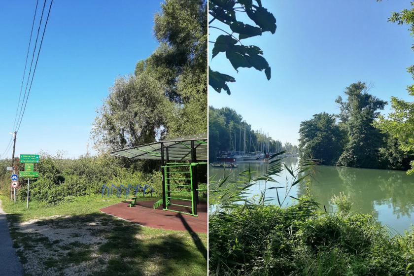 Sportpark Balatonfűzfőn a bicikliút mellett.