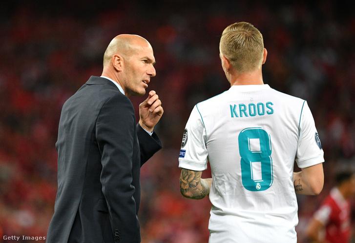 Zidane és Kroos az UEFA Bajnokok Ligája döntőjén 2018-ban
