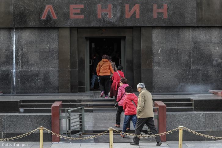 A moszkvai Vörös téri Lenin-mauzóleum