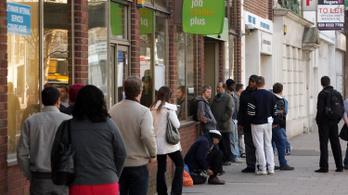 Emelkedett a brit munkanélküliség, átlagosan 4,1 százalékos volt a bejegyzett állástalanok aránya