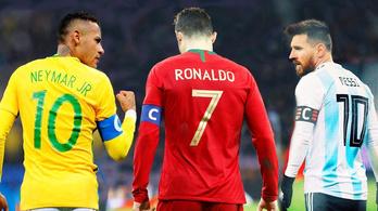 Messi már keresetben is megelőzte Ronaldót és Neymart