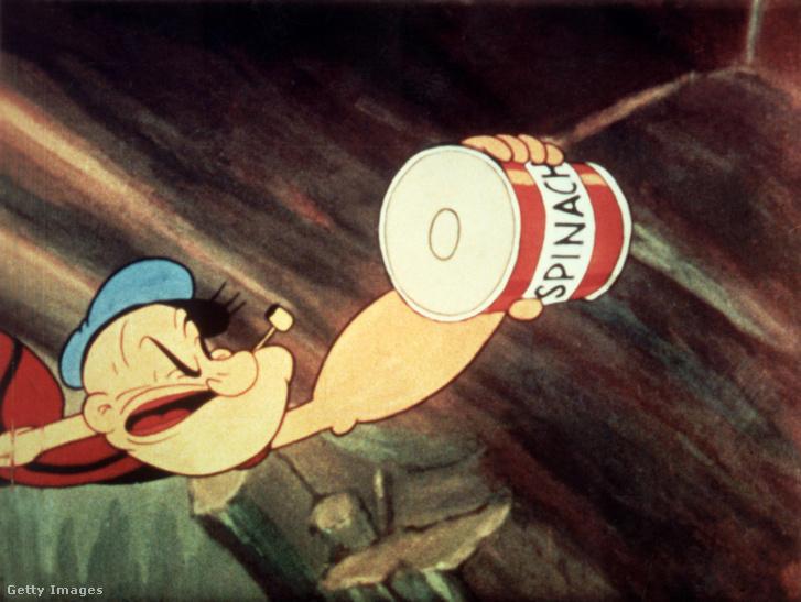 Popeye, aki már használta a spenótot izomnövelésre