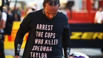 A hétvégén a pólójával üzenő Hamilton kijelentette, nem áll le