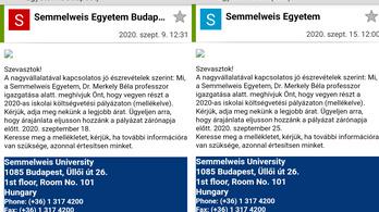 Adathalász leveleket küldenek csalók a Semmelweis Egyetem nevében