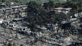 Újra felgyújtottak egy menekülttábort Görögországban