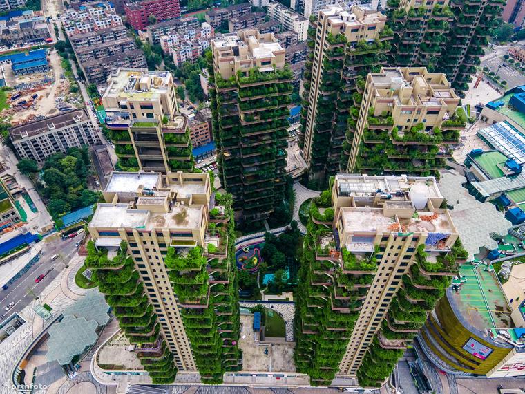 A Kína közepén található Csengtu legizgalmasabb felhőkarcolói a képen is látható növénybarát épületek, melyekért az eredeti tervek szerint rajongtak volna a potenciális vásárlók, de a helyzet úgy hozta, hogy mégsem annyira kedveltek