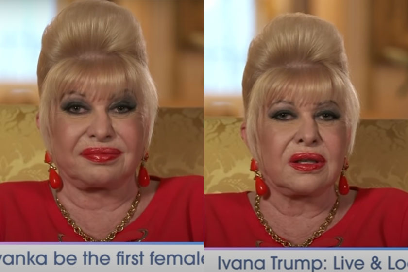 Ivana Trump már nem hasonlít régi önmagára.