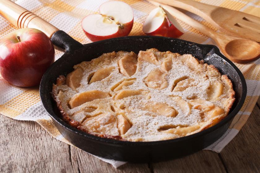 Pihe-puha almás, fahéjas óriáspalacsinta egyenesen a sütőből