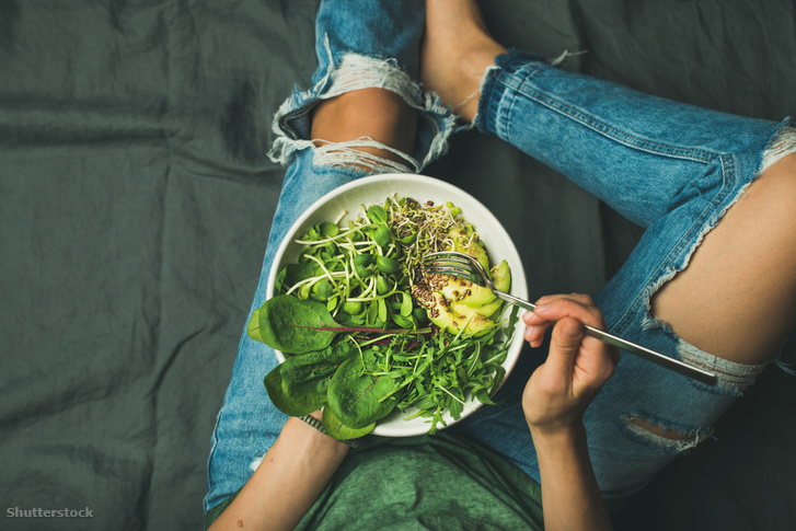 Igazi nitrát paradicsom, azaz egy saláta, ami tele van spenóttal, rukkolával