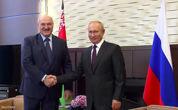 Lukasenko és Putyin találkozója Szocsiban 2020. szeptember 14-én