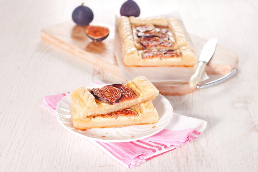 Édes mascarponés, fügés pite: leveles tésztából a legegyszerűbb