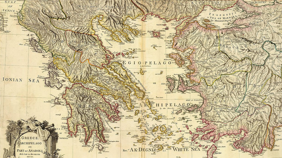 Map of Greece, Archipelago and part of Anadoli; Louis Stanislas