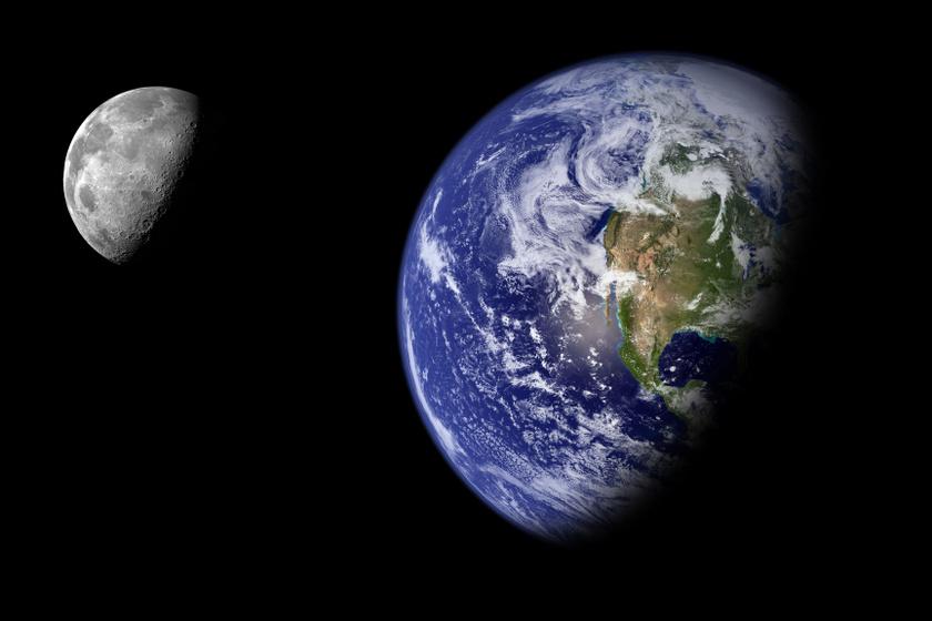 Így néz ki a Föld a Holdról nézve: látványos felvételeken mutatták meg