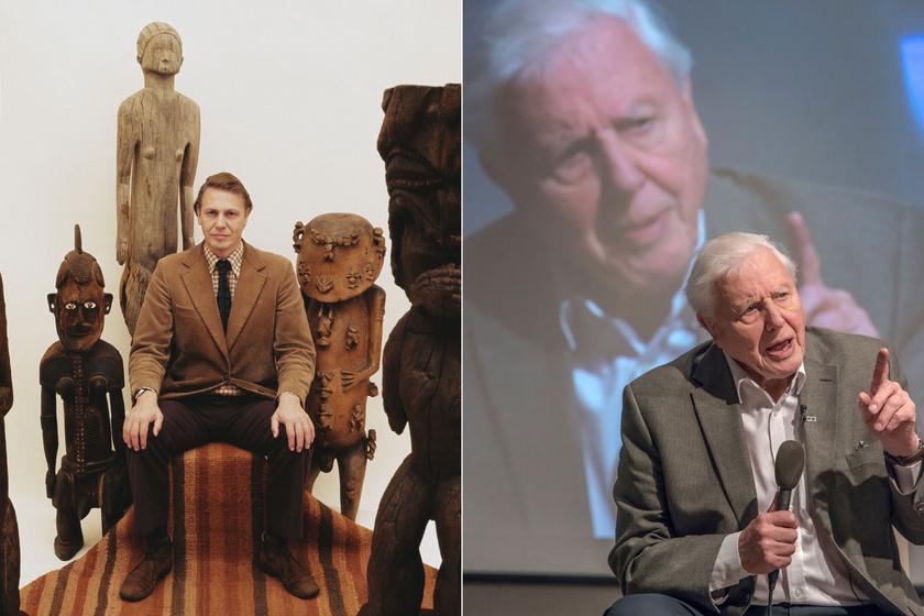 David Attenborough 1975-ben és 2020 januárjában.