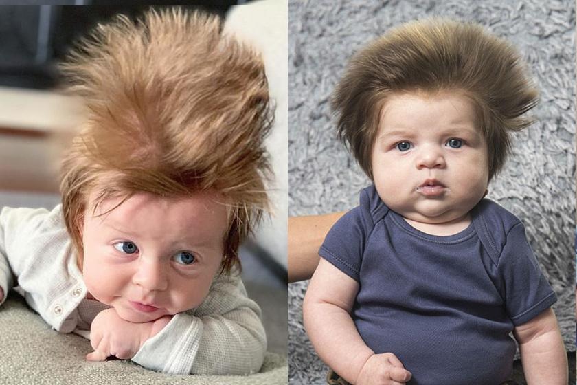 Mindenki meglepődött, amikor a baba fejére pillantott: bámulatos hajkoronával született gyerekek