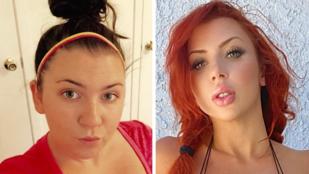 Nézze, mit tesz egy válás és 9 millió forintnyi plasztikai műtét egy 26 éves nővel!