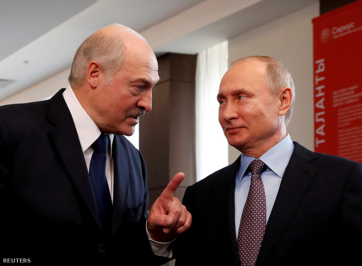 Alekszandr Lukasenko és Vlagyimir Putyin 2019-ben