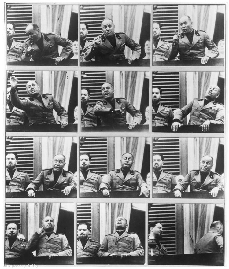 Hitlerhez hasonlóan Mussolini sok időt töltött beszédei megkomponálásával: tükör előtt grimaszolt, és hadonászott.