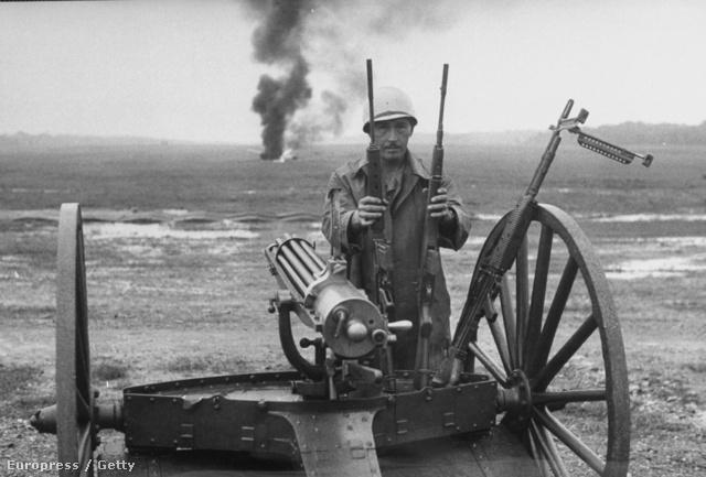 Gatling gépfegyver egy 1956-os harci bemutatón