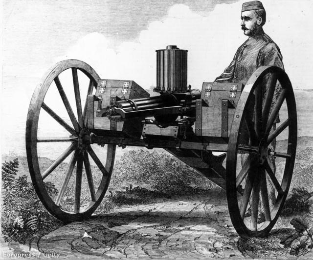Mobil Gatling gépfegyver