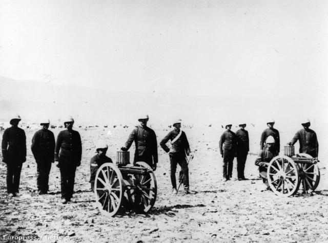 Gatlingek az angol hadsereg szolgálatában (1895)