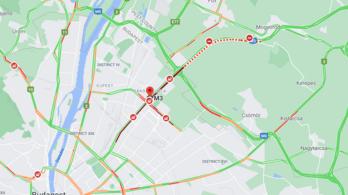 Baleset az M3-ason: szinte lehetetlen kijutni Budapestről