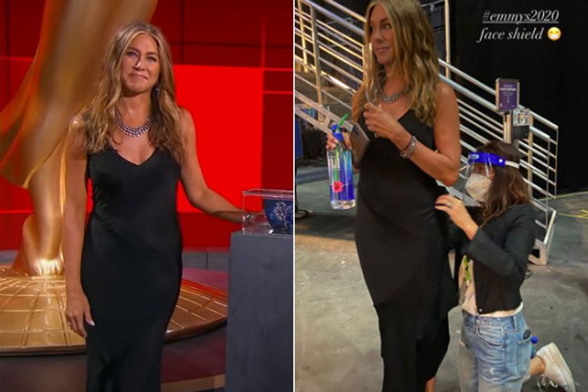 Jennifer Aniston egy John Galliano által tervezett Dior estélyit viselt.