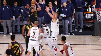 Dudaszós triplával győzte le a Lakers a Denvert a főcsoportdöntőben – videó
