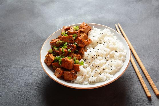 Egy adag párolt rizs tökéletes mellé.