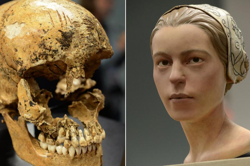 Jane arca, amelyet a koponyája alapján rekonstruáltak.