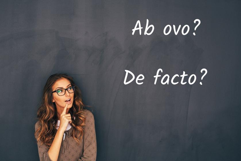 Te tudod, mit jelent az ab ovo vagy a de facto? Idegen szavak és kifejezések kvíze