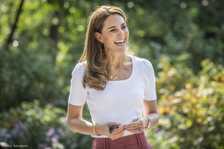 Katalin hercegné szeptember 22-én a londoni Battersea Parkban találkozott családok és közhasznú szervezetek képviselőivel