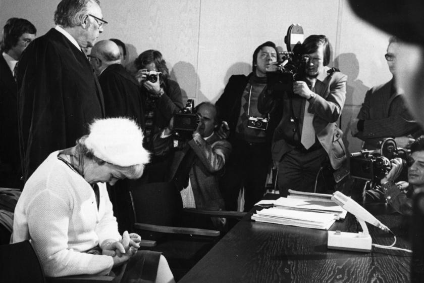 Hermine Braunsteiner a bíróságon.