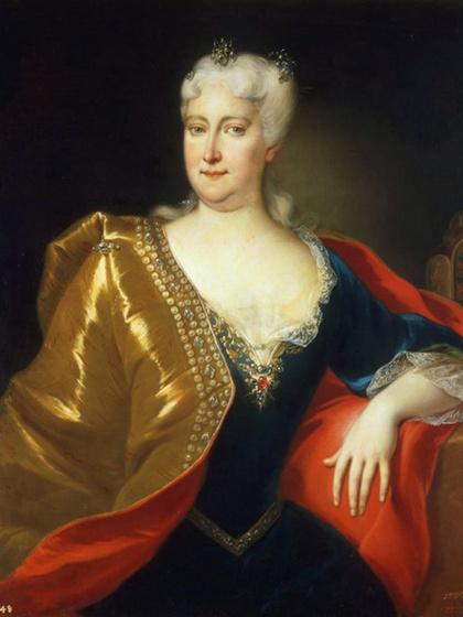 VI. Károly német-római császár és magyar király felesége, a 18. század híres szépsége: ki látható a képen?