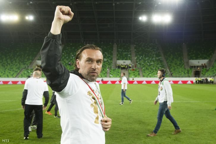 Thomas Doll közel öt évig volt az FTC vezetőedzője, itt épp megvédte címét a Magyar Kupában 2016. május 7-én az Újpest ellen