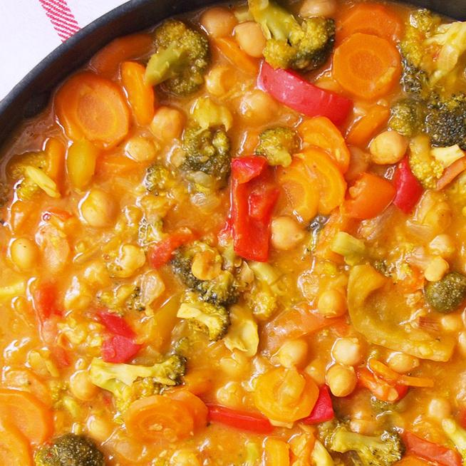 Krémes, thai sütőtökcurry kókusszal és csicseriborsóval - Vitaminbomba őszi fogás