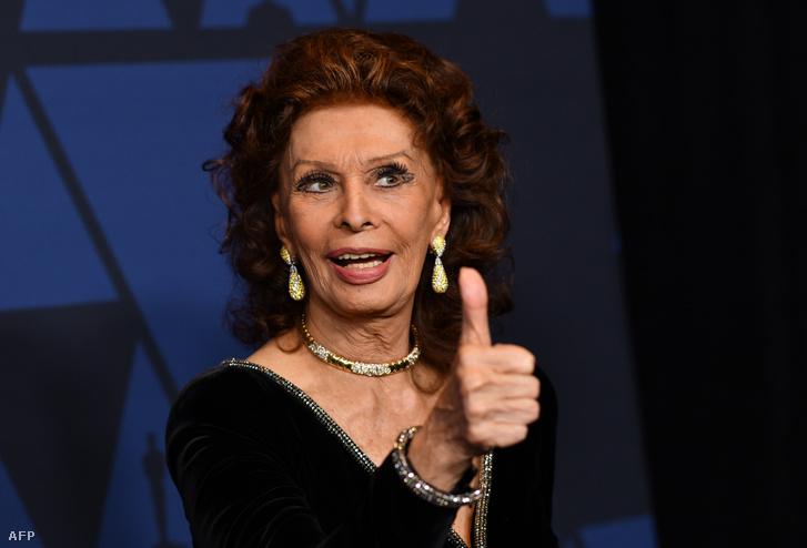 Sophia Loren egy 2019-es gálán
