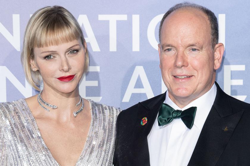 A monacói hercegné ezüst estélyiben gálázott: Charlene volt az est legszebbje
