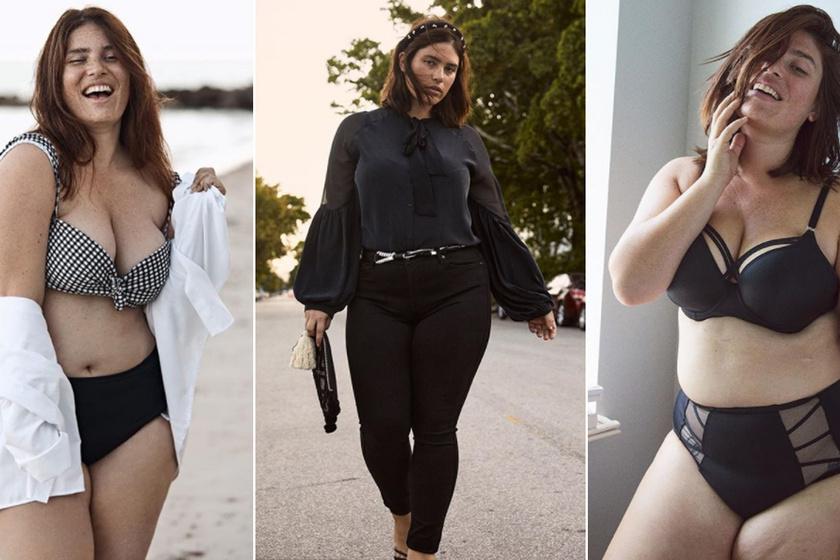 Meztelenre vetkőzött a gyönyörű, 100 kilós plus size modell - Büszke testének minden porcikájára Clémentine Desseaux
