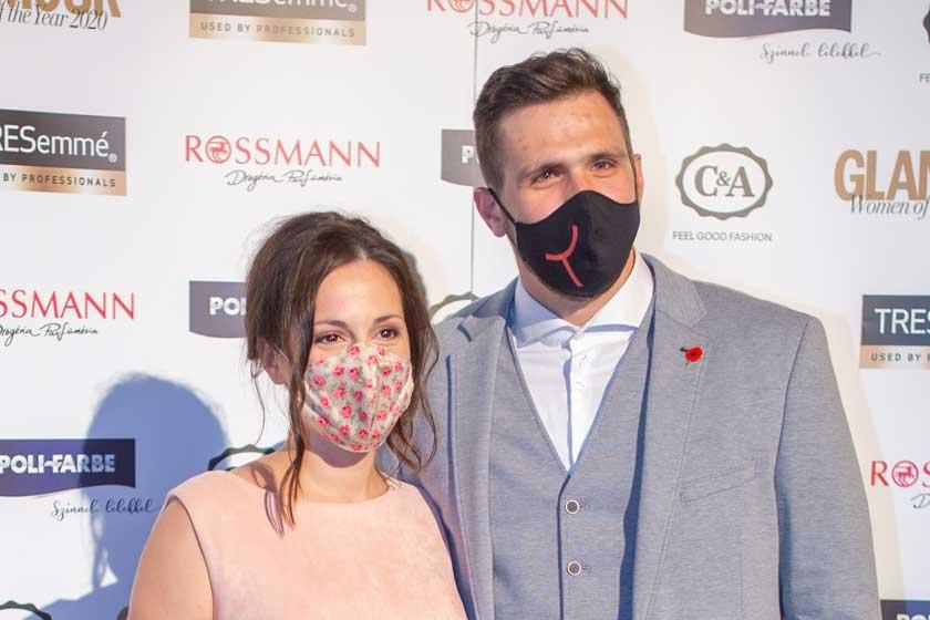 Lovas Rozi a Glamour-gálán jóképű férjével jelent meg - Fotókon az est sztárpárjai