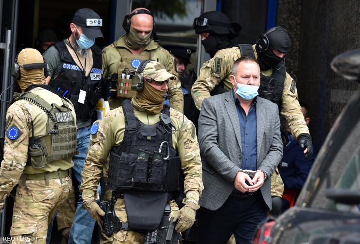 Hysni Gucati mai letartóztatása Pristinában