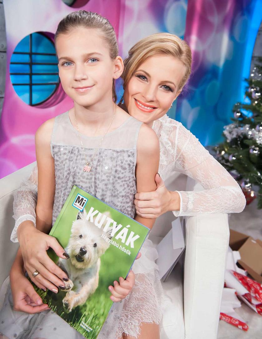 Várkonyi Andrea és lánya, Nóri a Micsoda Nők! 2016 karácsonyi adásában.