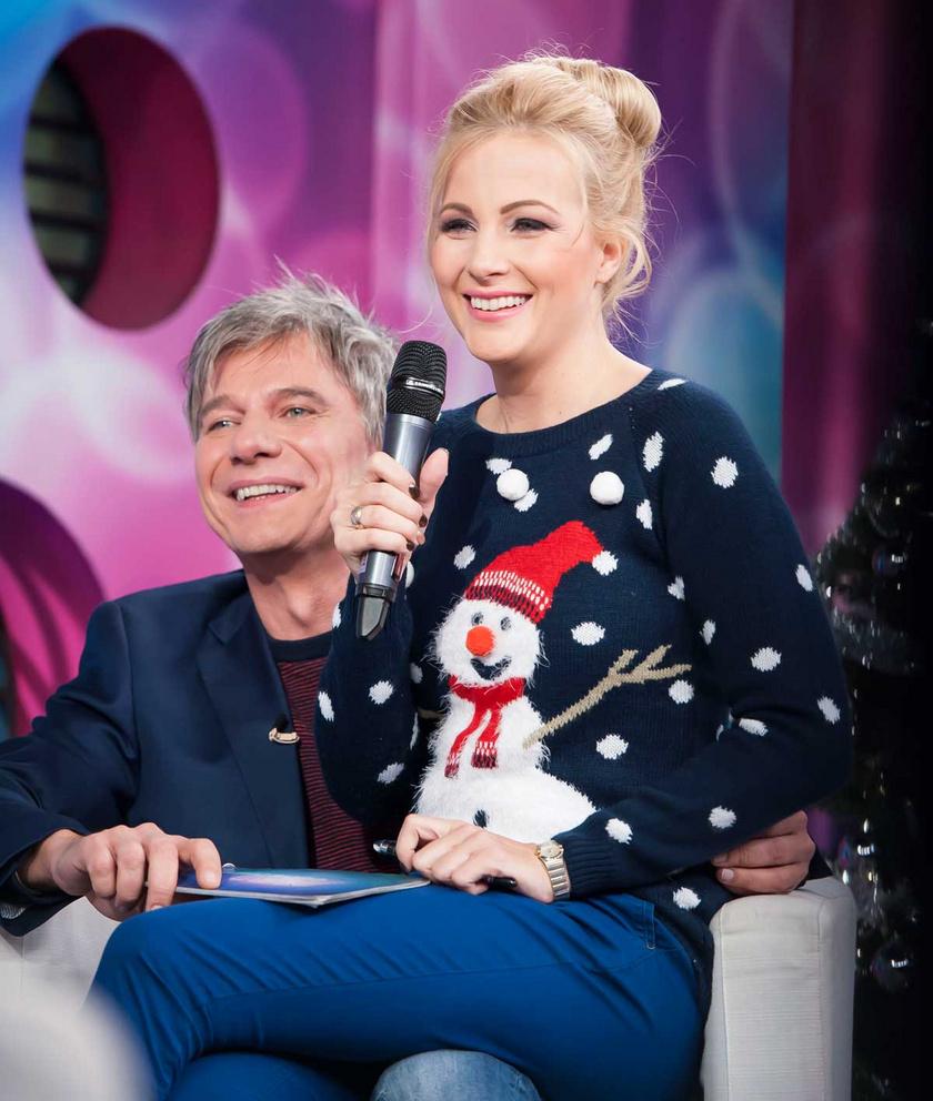 Várkonyi Andrea és Bochkor Gábor a Micsoda Nők! 2016 karácsonyi adásában.